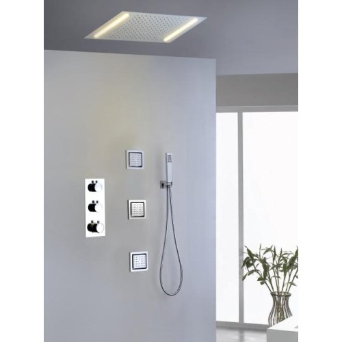 LightInTheBox Shower Faucet Contemporary LED / Thermostatic / Rain Shower / Sidespray / Handshower Included Brass Chrome