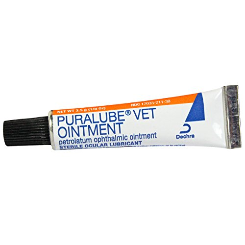 Puralube Vet Ointment - 1/8 oz tube - Sterile Ocular Lubricant by (Opthalmic Ointment)