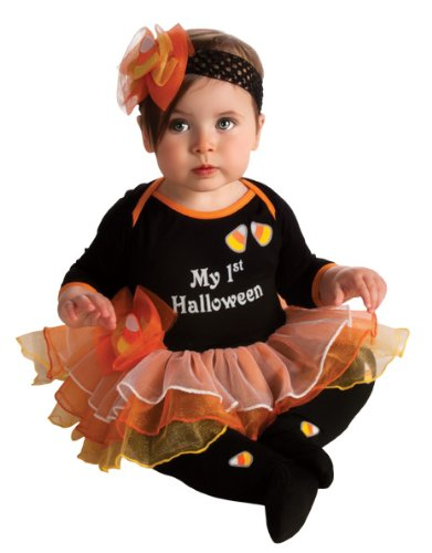 Rubie's Costume My First Halloween Tutu And Onesie, Black, Newborn (Themes For Dressing Up In Groups)