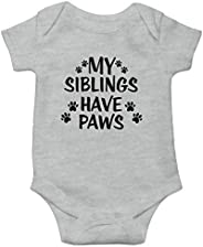 Witty Fashions My Siblings Have Paws - Funny Baby Bodysuit