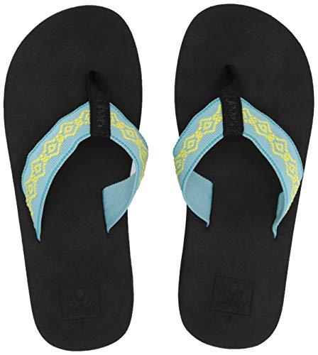 Reef Women's Sandy Flip-Flop, Aqua, 11 M US - Fabric Strap Flip Flop