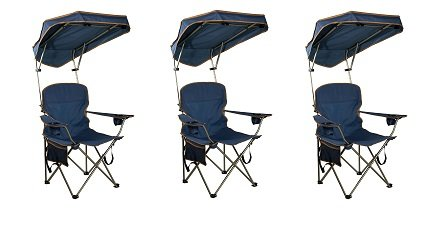 Quik Shade MAX Shade Camp Chair - Navy (3-(Pack)) by Quik Shade.