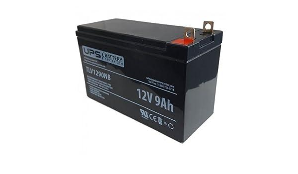 UPSBatteryCenter Compatible Replacement Battery for BB 12V 9Ah Nut /& Bolt HR9-12-BO
