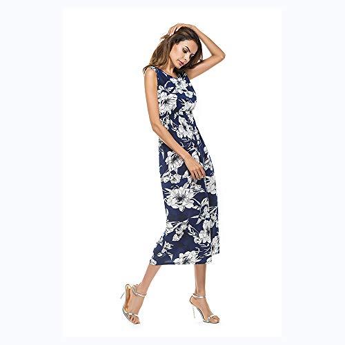 Fresh Vintage Ladies' Dress Beach Dress Print SGJFZD Blue Dress aTSax7