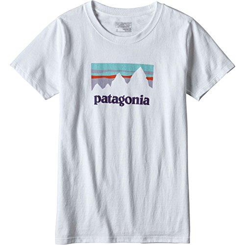 既婚磁気先住民パタゴニア トップス シャツ Patagonia Shop Sticker Responsibili-Tee White hog [並行輸入品]