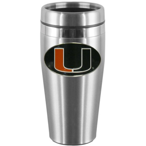 NCAA Miami Hurricanes Steel Travel Mug ()