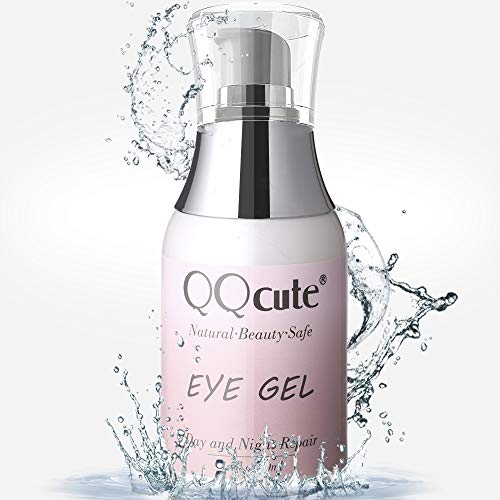 Eye Gel, QQcute Day & Night Anti-Aging Eye Treatment Cream for Wrinkle, Dark Circle, Fine Line, Puffy Eyes, Bags Best Hydrogel Eye Moisturizer for Women Mother's Day Gift - 1.7 fl oz.