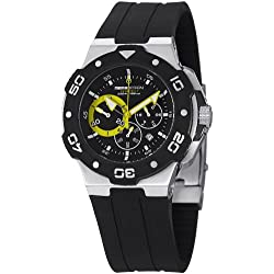 Momo Design Men's MD1004-03BKYW-R Tempest Analog Display Swiss Quartz Black Watch