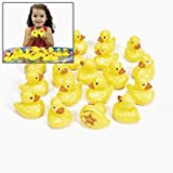 Fun Express OTC Plastic Weighted Carnival Ducks Matching Game, Pack of 20, Yellow