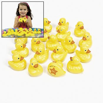 OTC - 20 Yellow Plastic Weighted Carnival Ducks Matching Game (Duck Plastic)