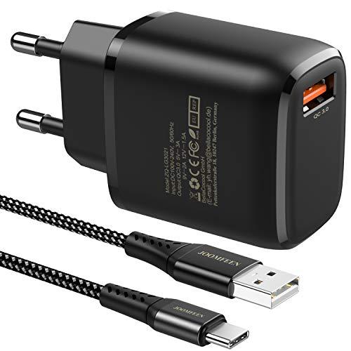 🥇 JOOMFEEN Quick Charge 3.0 Cargador USB Tipo C de Pared con Cable USB C 2M