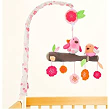 Happy Bird Crib Bedding Set musical mobile - Spring Time Birdie