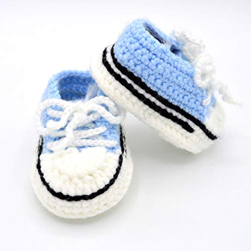 a93a6b12b3aee Baby Sneakers Booties - Handmade Crochet Shoes - Crib Shoes for ...
