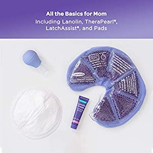 Lansinoh Breastfeeding Starter Set for Nursing Mothers, Breastfeeding Gift for Baby Showers and New Moms, Contains…