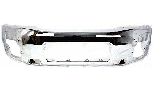 Nissan Chrome Bumper - Evan-Fischer EVA17372030115 Bumper for Nissan Titan 04-14 / Armada 05-07 Front Bumper Chrome Replaces Partslink# NI1002136