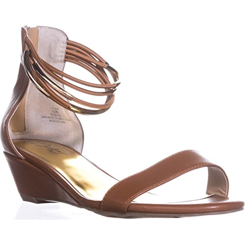 Thalia Sandals Ts35 strap Ankle Wedge Areyana Cognac XpXvPWr