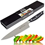 Vida Knives Professional Grade 8 Inch Chef's Knife, High Carbon German Stainless Steel, Ergonomic Composite Handle with Full Tang