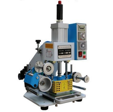 Pneumatic Hot Foil Stamping Machine Paper Leather LOGO Stamper Printer 8090mm for leather, plastic, rubber, wood, paper products etc