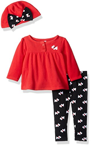 Gerber Baby 3 Piece Micro Fleece Top, Pant and Cap Set, Scottie Dog, 24 Months