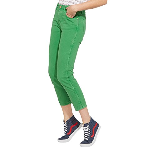 Mujer Para Wrangler Green 121 Cropped Rectos Straight Jeans xXvSvqZ