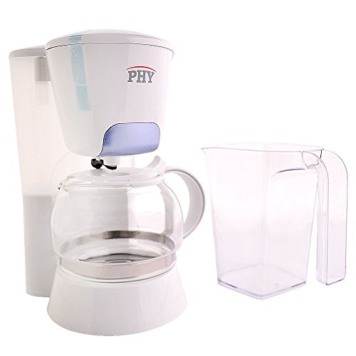PHY 4-Cup/0.6L Switch Coffee Maker / Coffeemaker with Glass Carafe & Permanent Filter & Semi Transparent Water Tank (Blue) (Tank Transparent Water)