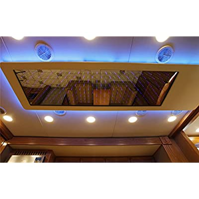 acegoo RV Boat Recessed Ceiling Light 4 Pack Super Slim LED Panel Light DC 12V 3W Full Aluminum Downlights, Cool White (White): Automotive