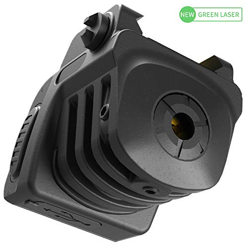Laspur Advanced Optics Sub Compact Tactical Rail Mount Low Profile Laser Sight, Build-in Rechargeable Battery for Pistol Rifle Handgun Gun (Green) (Best Laser For Px4 Storm)