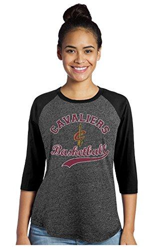 fan products of NBA Cleveland Cavaliers Women's Premium Triblend 3/4 Sleeve Raglan, Black, Small