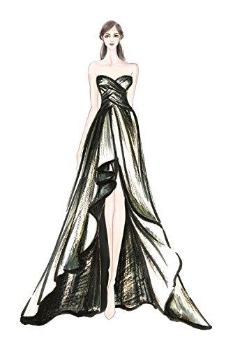 d' sera Victory abito da scuola lungo glamour da Uva della chiffon abito party onore ballo Bridal in damigella per ttxqwrPRC