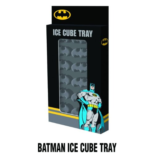 (ICUP DC Comicc' Batman Molded Rubber Ice Cube Tray, Grey)