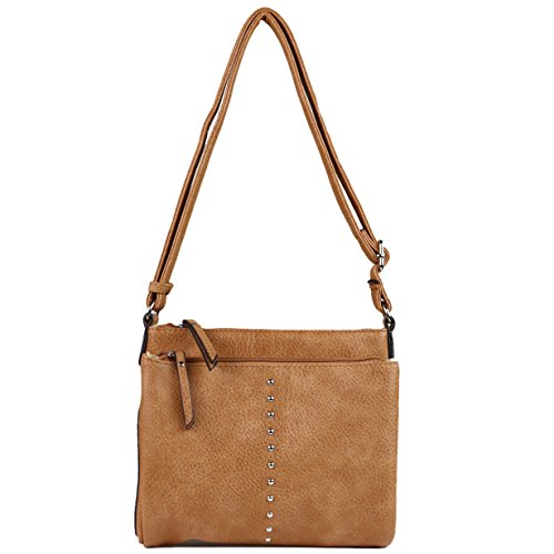 Lady Cross Handbag YKK Conceal Light Elizabeth by Carry Organizer Brown Body Locking Purse Concealed wX8aqqv