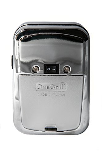 OneGrill Weber Fit Stainless Steel Complete Grill Rotisserie Kit W/Chrome Cordless Motor (Fits: 300 Series 3 Burner Weber Genesis/Genesis II/Spirit/Spirit II)