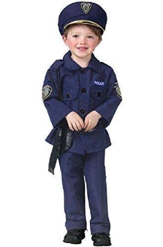 [8eighteen Cop Officer Policeman Toddler Halloween Costume] (Indian Policeman Costume)