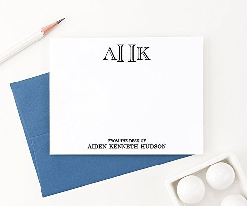 amazon com from the desk of stationary set monogrammed stationery