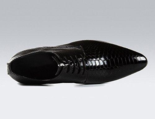 Herren Lederschuhe Herren Lederschuhe wies britischen Stil Business Formelle tragen helle einzelne Schuhe Herrenschuhe ( Farbe : Schwarz , größe : EU38/UK5.5 ) Schwarz
