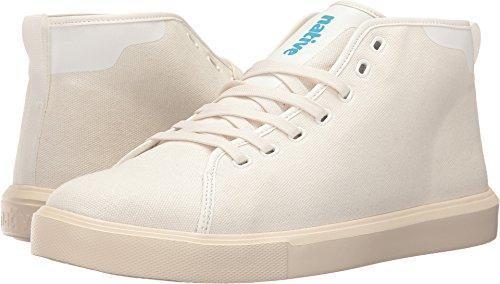 Native Shoes Men's Monaco Mid Wax Canvas Sneaker Fashion, Shell Bone White, 8 M US ()