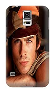 The best selling shock absorption bumper tpu cases/cover with texture for Samsung Galaxy s5 of Ian Somerhalder in Fashion E-Mall