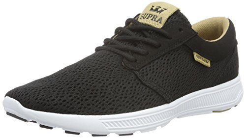 Supra Mens Hammer Run Black Tan White Shoes