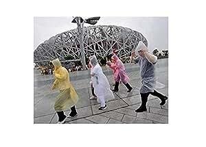 Crazy 20PCS Shopping Portable Disposable raincoats for Outdoor Travel