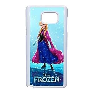 Generic for Samsung Galaxy Note 5 Cell Phone Case White Frozen Anna Custom HKADSGHGO1937