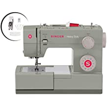 SINGER | Heavy Duty 4452 Sewing Machine with Accessories, 32 Built-In Stitches, 60% Stronger Motor, Stainless Steel Bedplate, 48% Faster Stitching Speed & Automatic Needle Threader