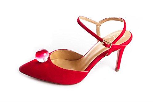 Salón Zapato Abierto Lua Rojo Destalonado ZwAY8