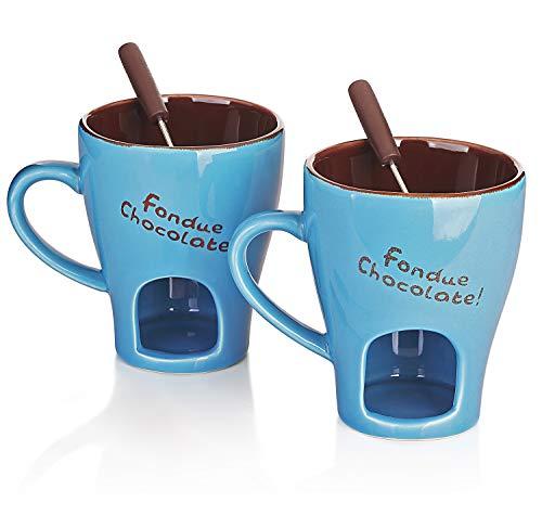 chocolate and cheese fondue set - 2
