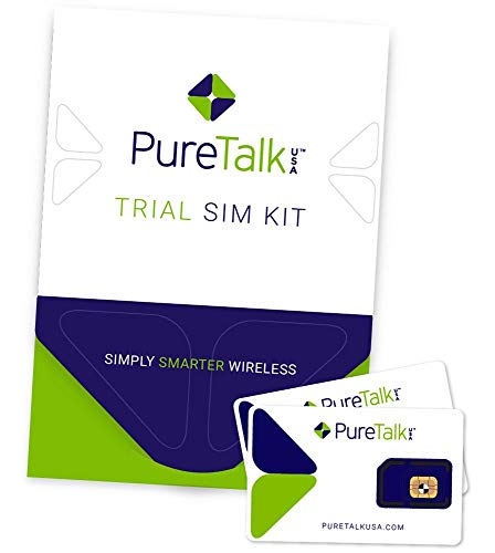 PureTalk Trial SIM Kit | Universal SIM for Unlocked GSM Phones - Comes with 100 Min/100 Text/100MB Data to Verify Compatibility with Our Service (Best Prepaid Phone Plans Usa)