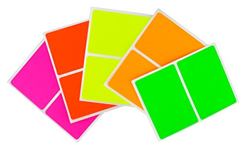 ChromaLabel 2 x 3 inch Name Tag Stickers | 5 Assorted Colors | 150 Labels/Pack (Fluorescent) ()