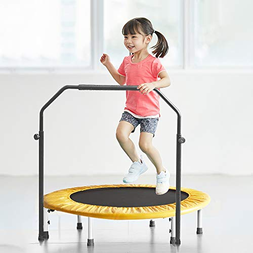 DlandHome 38 Inch Mini Trampoline for Kids Jumping Trampoline Fitness Trampoline Rebounder with Tension Bungees DUS-PSBC-005 (Best Mini Trampoline Reviews)