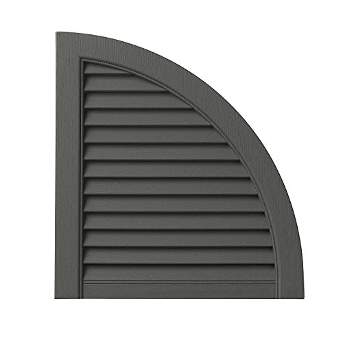 PlyGem Shutters and Accents ARCH15LV 93 Open Louvered Arc...