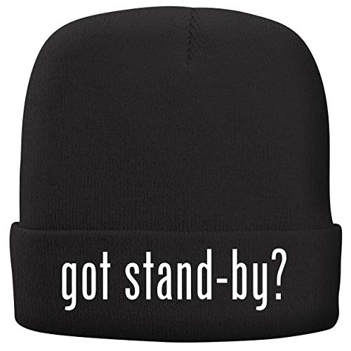 BH Cool Designs got Stand-by? - Adult Comfortable Fleece Lined Beanie, Black