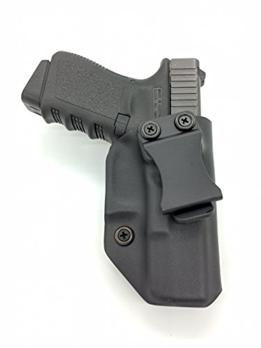Fast Draw USA - Compatible with Glock 19/23/32 IWB Kydex Holster Inside Waistband Concealed Carry Holster Made in USA (Black Right Hand)