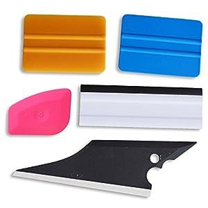 Ehdis!! 5 pcs Installation Tool Kit for Automobile Car Vinyl Film Wrap Trim Window Tint Works, Car Squeegee Set Kit